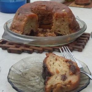 Foto del budín de pan