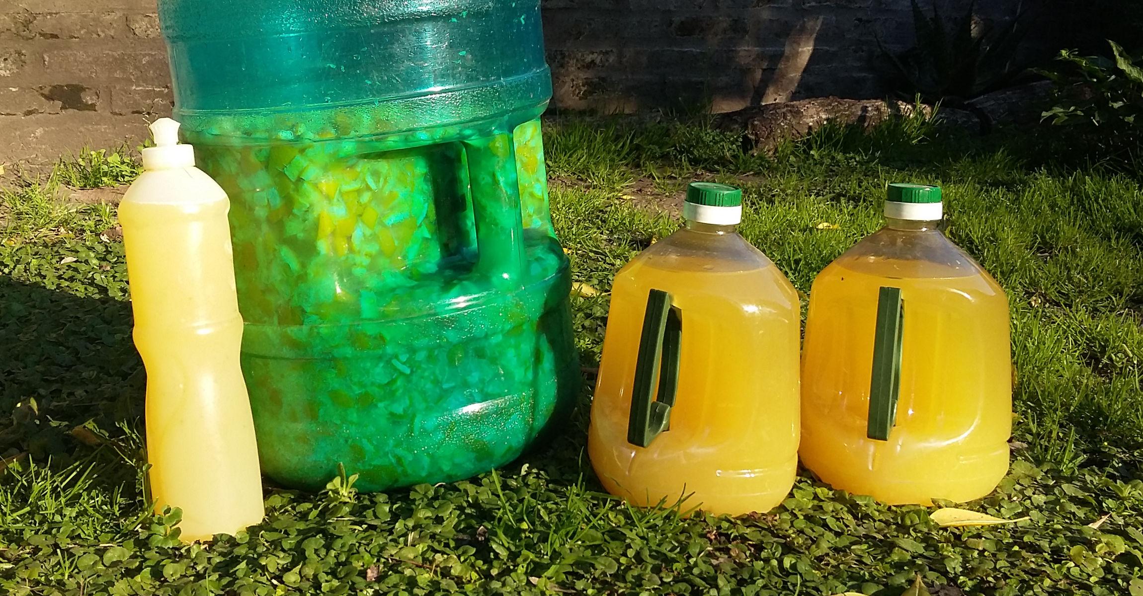 Detergente ecológico de naranjas